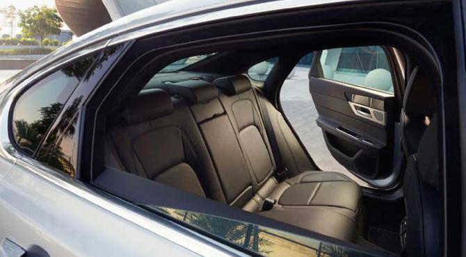 Jaguar XF 2016 rear seats interior