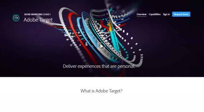 Adobe Target AB Testing Tool Screenshot