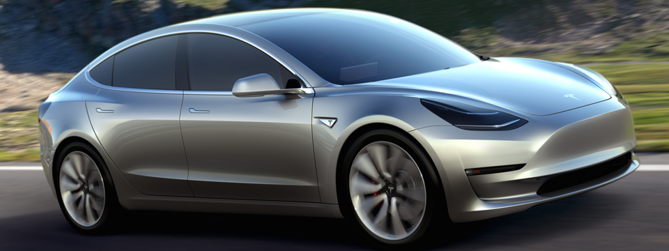 Tesla Model 3 front view
