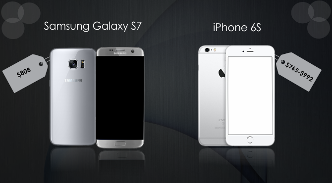 Price Comparison of Samsung Galaxy S7 and iPhone 6S