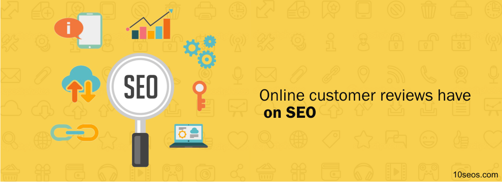 What impact can online customer reviews have on SEO?