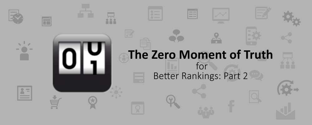 The Zero Moment of Truth for Better Rankings: Part 2