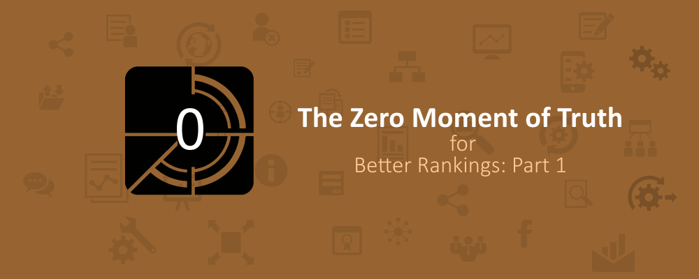 The Zero Moment of Truth for Better Rankings: Part 1