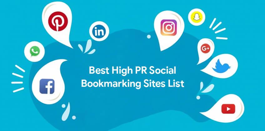 Best High PR Social Bookmarking Sites List