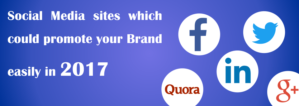 Social Media sites which could promote your Brand easily in 2017