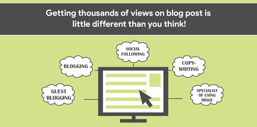 Getting thousands of views on blog post is little different than you think!
