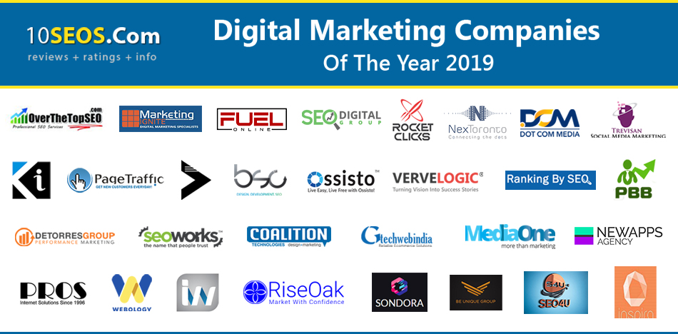 Top Digital Marketing Companies of the Year 2019