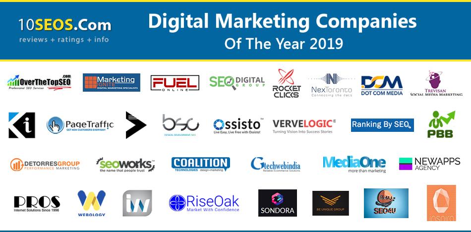 Top Digital Marketing Companies of the Year 2019