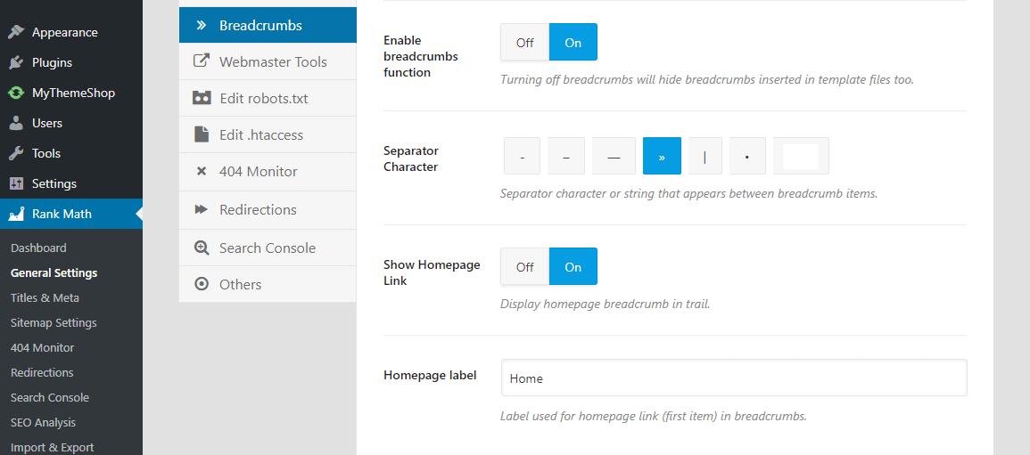Rank Math Dashboard