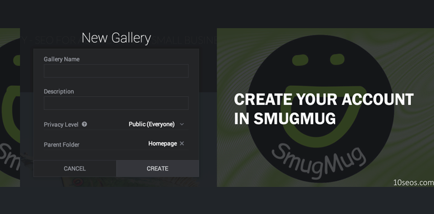 HOW TO CREATE YOUR ACCOUNT IN SMUGMUG