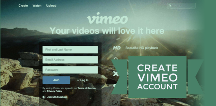 HOW TO CREATE AN ACCOUNT FOR VIMEO?