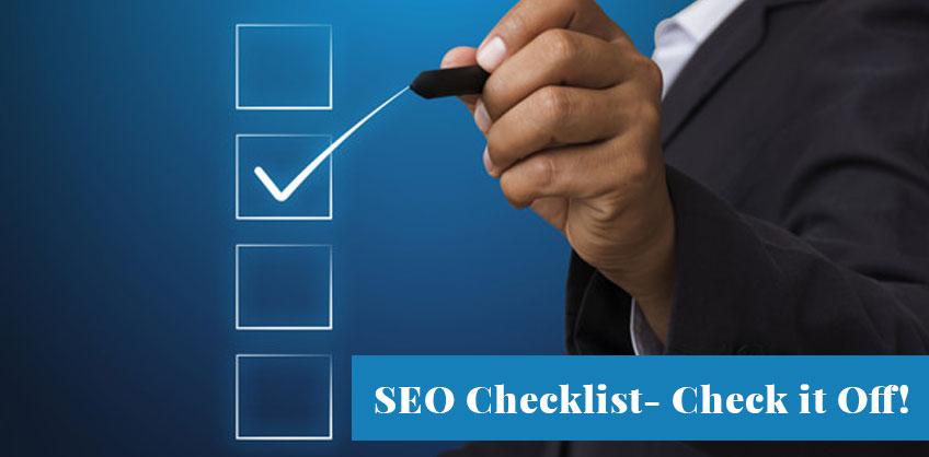 SEO Checklist- Check it Off!