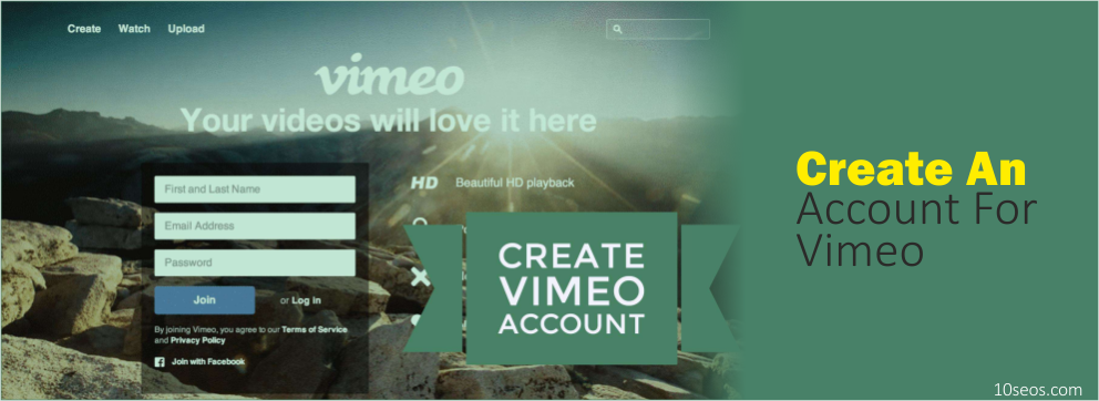 HOW TO CREATE AN ACCOUNT FOR VIMEO