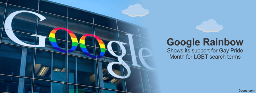 Google Rainbow Shows its support for Gay Pride Month for LGBT search terms