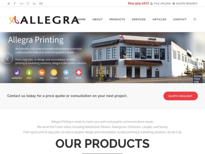 Allegra Printing on 10Hostings