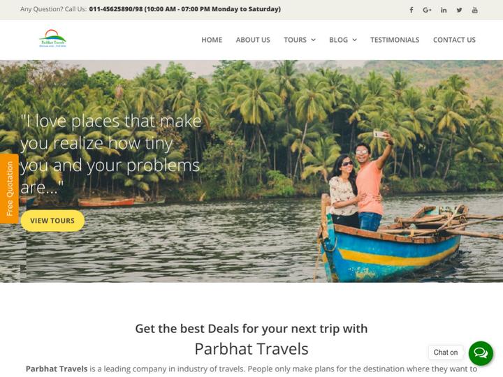 Parbhat Travels Pvt Ltd on 10Hostings