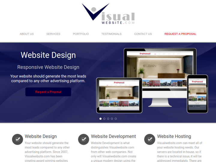 Visual Website on 10Hostings