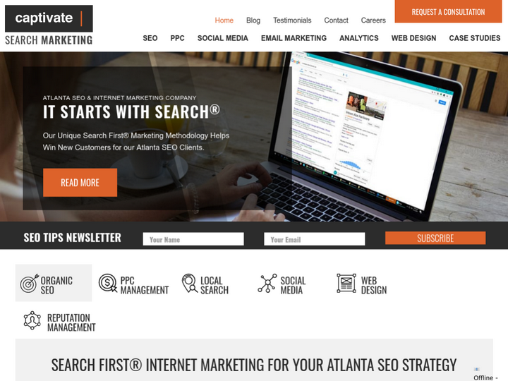 Captivate Search Marketing on 10Hostings