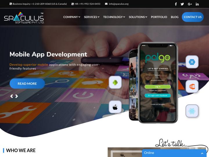 Spaculus Software Pvt. Ltd. on 10Hostings