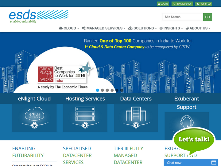 ESDS Software Solution on 10Hostings