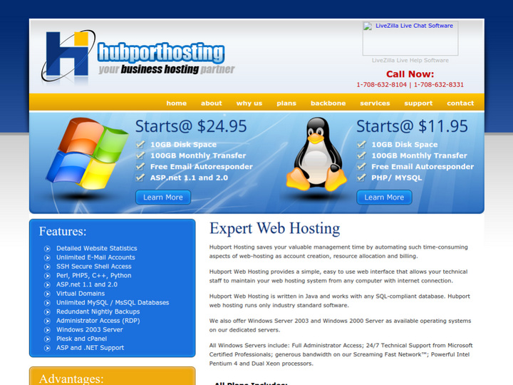 Hubport Web Hosting on 10Hostings