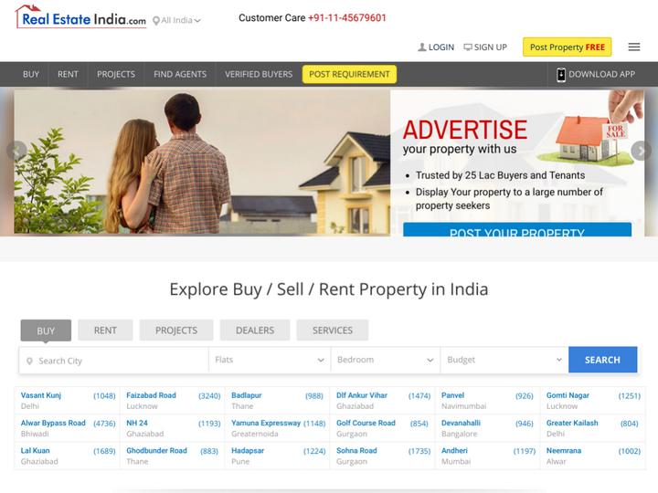 RealEstateIndia.Com on 10Hostings