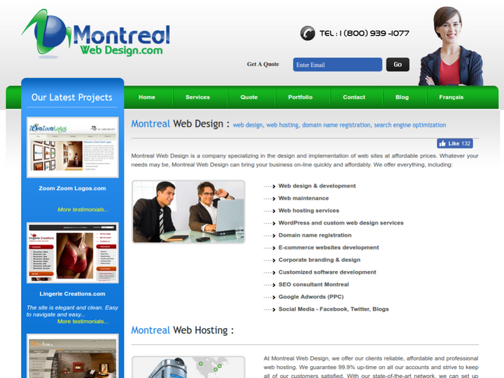 Montreal Web Design on 10Hostings