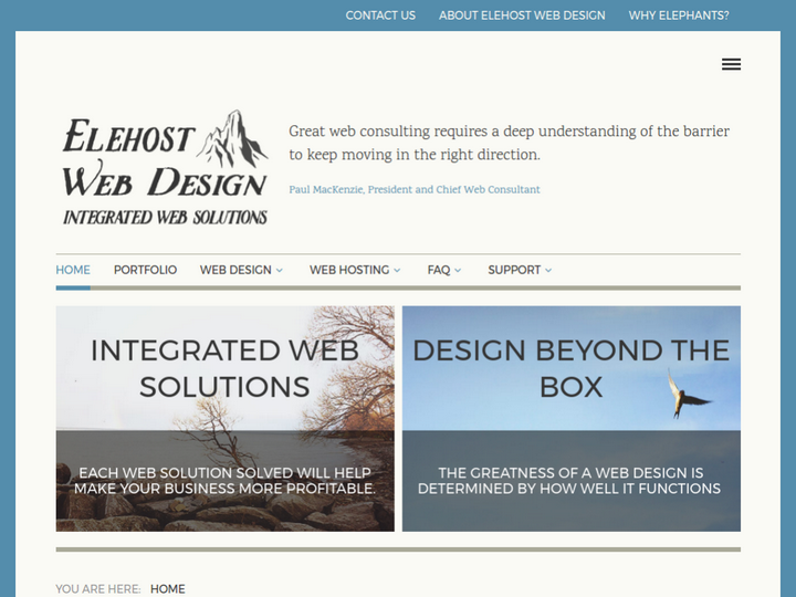 Elehost Web Design on 10Hostings