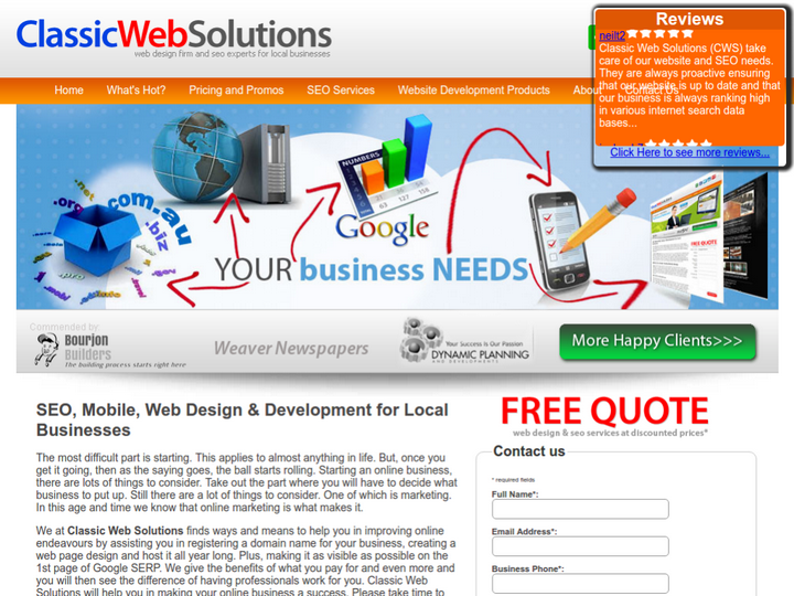 Classic Web Solutions on 10Hostings