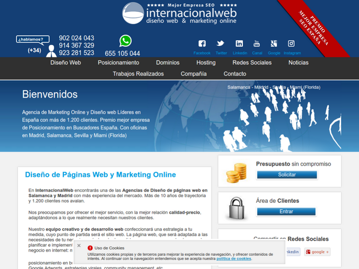 Internacional Web on 10Hostings