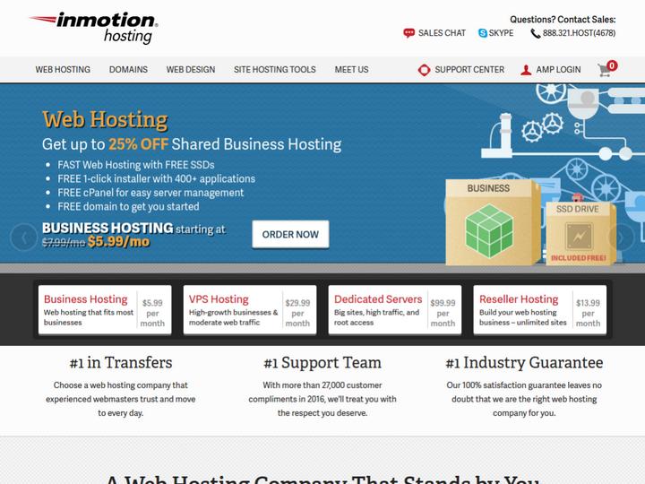 Inmotion Hosting on 10Hostings