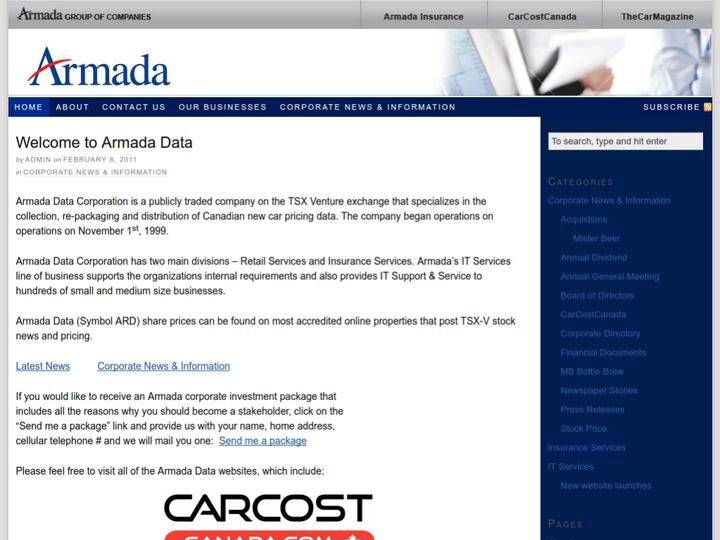 Armada Data Corporation on 10Hostings