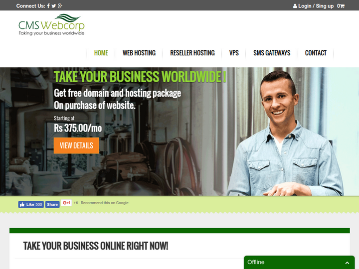 CMS Webcorp on 10Hostings