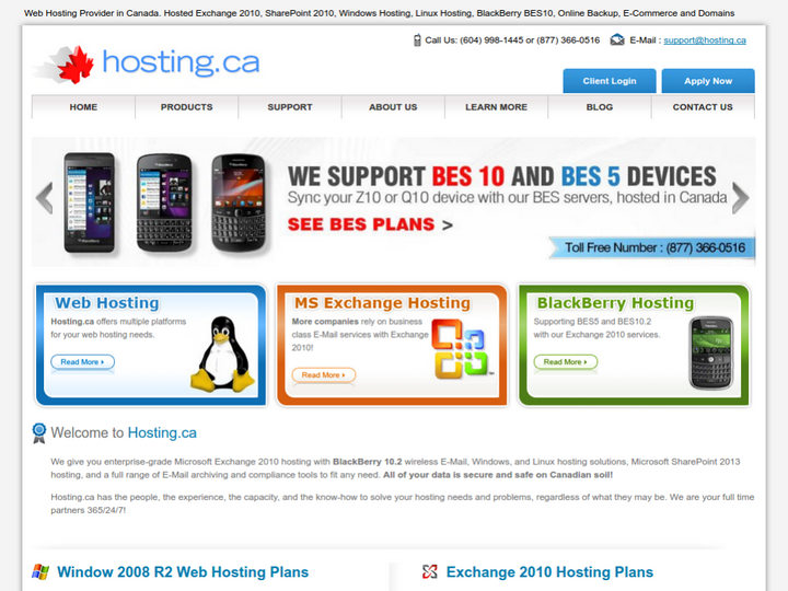 Hosting.ca on 10Hostings