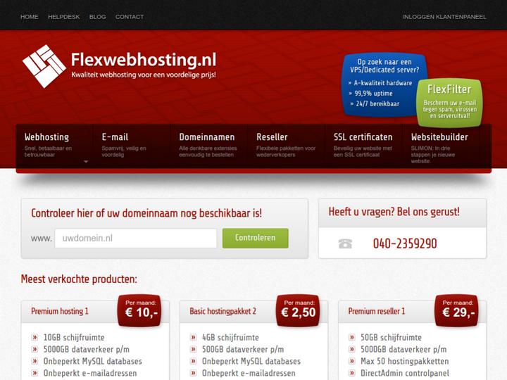 Flex Web Hosting on 10Hostings