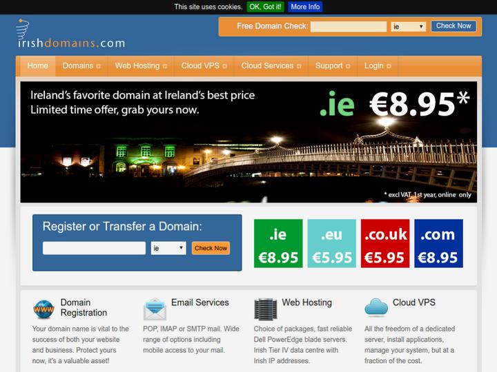 Irish Domains on 10Hostings