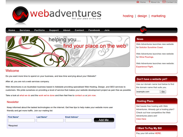 Web Adventures on 10Hostings
