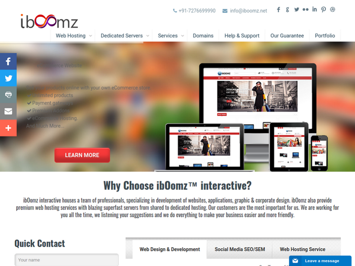 Iboomz Interactive on 10Hostings
