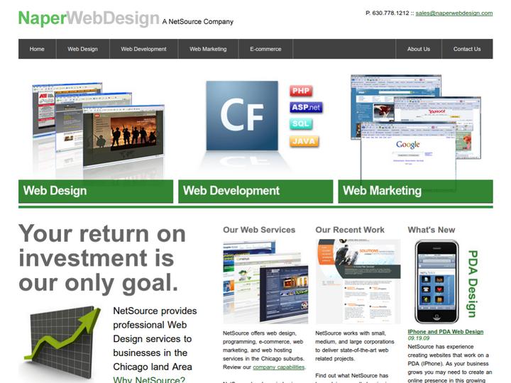 Naper Web Design on 10Hostings
