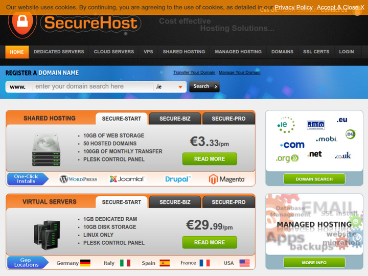 Secure Hosting on 10Hostings