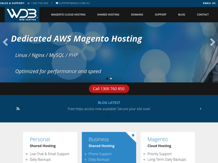 WD3 Web Hosting on 10Hostings