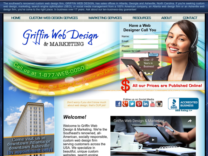 Griffin Web Design on 10Hostings