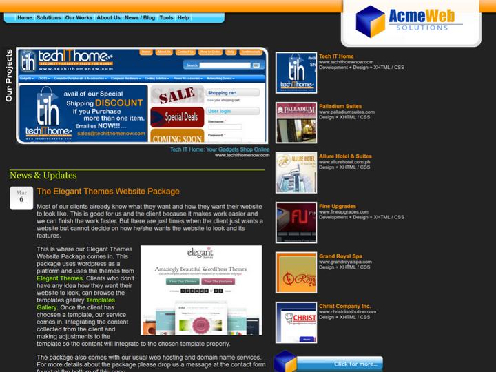 Acme Web Solutions on 10Hostings