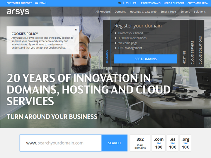 Arsys Internet Solutions on 10Hostings