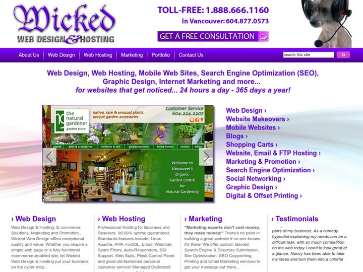 Wicked Web Design & Hosting on 10Hostings