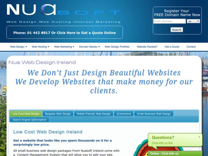 Nuasoft Web Design on 10Hostings