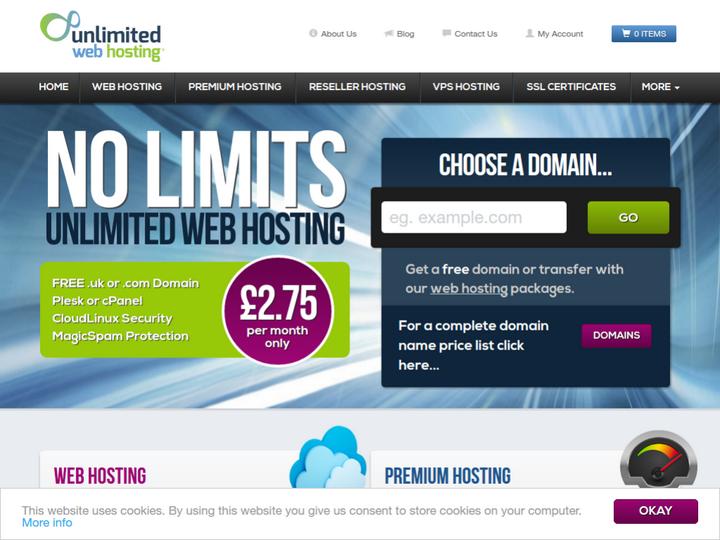 Unlimited Web Hosting on 10Hostings