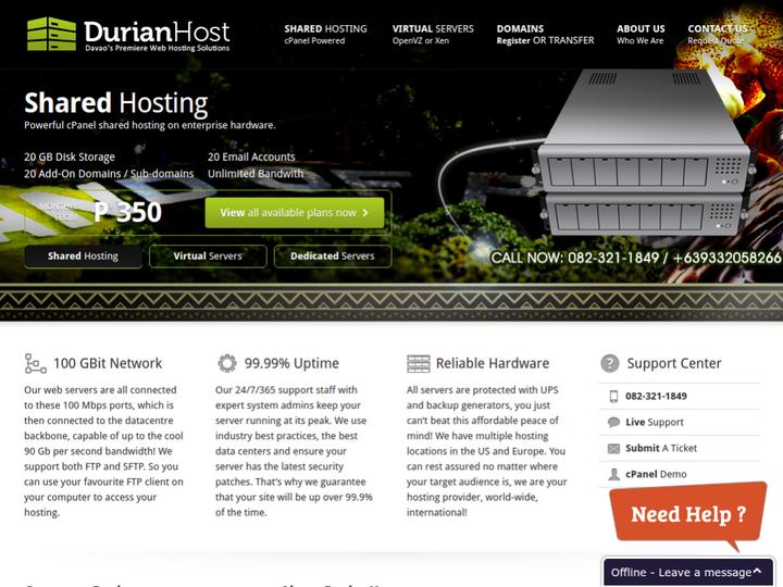 Durian Host on 10Hostings