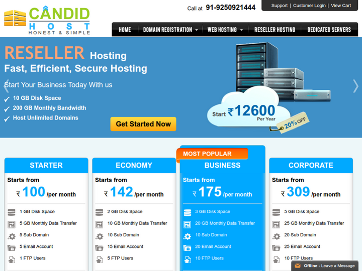 Candid Web Hosting Solutions on 10Hostings