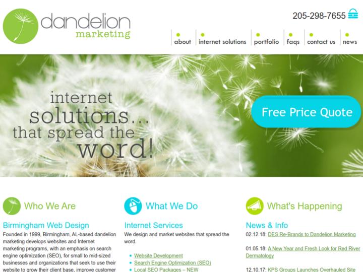 dandelion marketing on 10Hostings